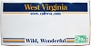 2005 West Virginia blank license plate