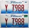 2005 Illinois Vanity graphic pair # Y 7988