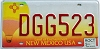 2005 NEW MEXICO BALLOON graphic license plate # DGG523