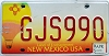 2005 NEW MEXICO BALLOON graphic license plate # GJS990