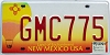 2005 NEW MEXICO BALLOON graphic license plate # GMC775