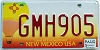 2005 NEW MEXICO BALLOON graphic license plate # GMH905