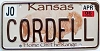 2006 Kansas Buffalo graphic # CORDELL, Johnson County