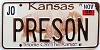 2006 Kansas Buffalo graphic # PRESON, Johnson County