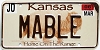 2006 Kansas Buffalo graphic # MABLE, Johnson County