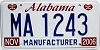 2006 Alabama Manufacturer # MA 1243