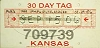 2006 Kansas Temporary Tag # 709739