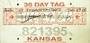 2006 Kansas Temporary Tag # 821395