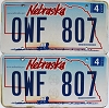 2006 Nebraska Wagon graphic pair # OWF-807