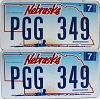 2006 Nebraska Wagon graphic pair # PGG-349