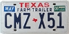2006 TEXAS FARM TRAILER license plate # CMZ-X51