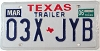 2006 TEXAS TRAILER license plate # 03X-JYB