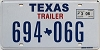 2006 TEXAS TRAILER license plate # 694-06G