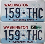 2006 WASHINGTON  graphic license plates pair # 159-THC