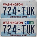 2006 Washington pair # 724-TUK