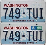 2006 Washington pair # 749-TUI