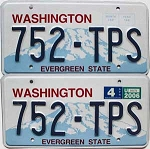 2006 Washington pair # 752-TPS