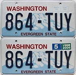 2006 Washington pair # 864-TUY