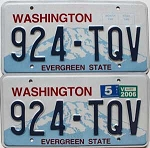 2006 Washington pair # 924-TQV