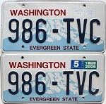 2006 Washington pair # 986-TVC