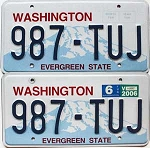 2006 Washington pair # 987-TUJ