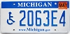 2007 Michigan Disabled graphic # 2063E4