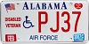 2007 Alabama Air Force Disabled Veteran graphic # PJ37