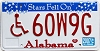 2007 Alabama Stars disabled graphic # 60W9G