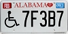 2007 Alabama disabled # 7F3B7