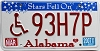 2007 Alabama Stars disabled graphic # 93H7P