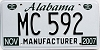 2007 Alabama Manufacturer # MC 592