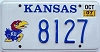 2007 Kansas University graphic # 8127