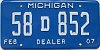 2007 Michigan Dealer # 58D852