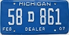 2007 Michigan Dealer # 58D861