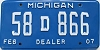 2007 Michigan Dealer # 58D866