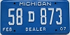 2007 Michigan Dealer # 58D873