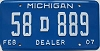 2007 Michigan Dealer # 58D889