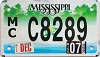 2007 Mississippi Motorcycle # C8289