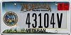 2007 Montana Army Veteran graphic # 43104V