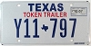 2007 TEXAS TOKEN TRAILER license plate # Y11-797