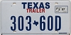 2007 TEXAS TRAILER license plate # 303-60D