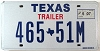 2007 TEXAS TRAILER license plate # 465-51M