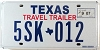2007 TRAVEL TRAILER license plate # 5SK-012
