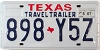 2007 TRAVEL TRAILER license plate # 898-Y5Z