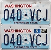 2007 Washington pair # 040-VCJ