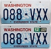 2007 Washington pair # 088-VXX