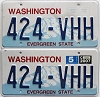 2007 Washington pair # 424-VHH