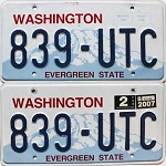 2007 Washington pair # 839-UTC