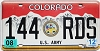 2008 Colorado Army graphic # 144-RDS