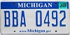 2008 Michigan graphic # BBA-0492